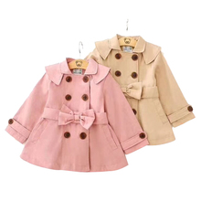 hot deal buy 2018 fashion jacket style solid outerwear coats girl clothing children's wear full cloak kid winter coat for girls clothes