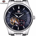 Forsining Klassische Serie Saphirglas Tourbillion Designer 316L Stahl Herren Männliche Armbanduhr Top-marke Luxus Automatische Uhr