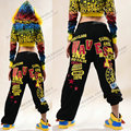 Best quality, 2016 New Fashion women dance pants Ds performance costumes female hip hop sprots trousers