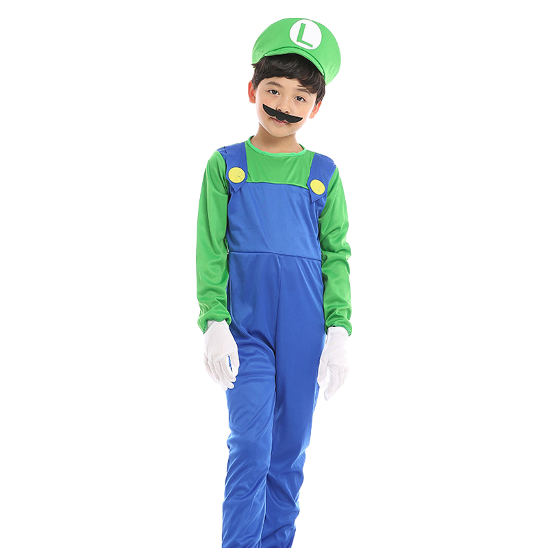 Super Mario Costume Kids Super Mario Luigi Costume Cosplay Girl