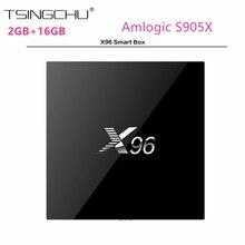 [in Stock]Amlogic S905X Quad Core Android 6.0 X96 TV BOX 2G+16G KODI 16.1 4K Set Top Box Wifi HDMI 2.0A Marshmallow Media Player