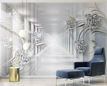 beibehang 3d Living room bedroom wallpaper mural 3d abstract space European style diamond TV background decoration 3d wallpaper wallpaper 3d southeast asian style wooden boat 3d wallpaper mural balcony living room decoration background