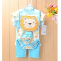Brand New Baby girls Clothing Set lion Animal boys Bodysuits Bebe clothes jumpsuit bib pant sock t-shirt