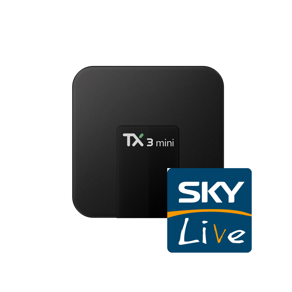 TX3 mini Android TV Box with Skylive IPTV Subscription for UK Italy Germany Turkey Greece France