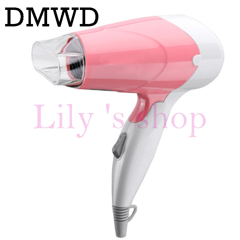 DMWD 1000W thermostatic air Hair Dryer Foldable electric Hairdryer Household portable travel dormitory Styling Tools EU US plug dmwd mini hair dryer foldable electric travel hairdryer household portable styling tool hot warm cold wind air blower 110v 220v