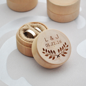 Image 2 - Custom Ring Box, Personalized Wedding / Valentines Engagement Wooden Ring Bearer Box, Rustic Wedding Ring Box Holder