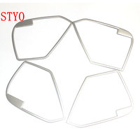 STYO Car stainless steel door Speaker ring cover interior frame trim for 2017 2018 MAZDAS CX5 cx 5