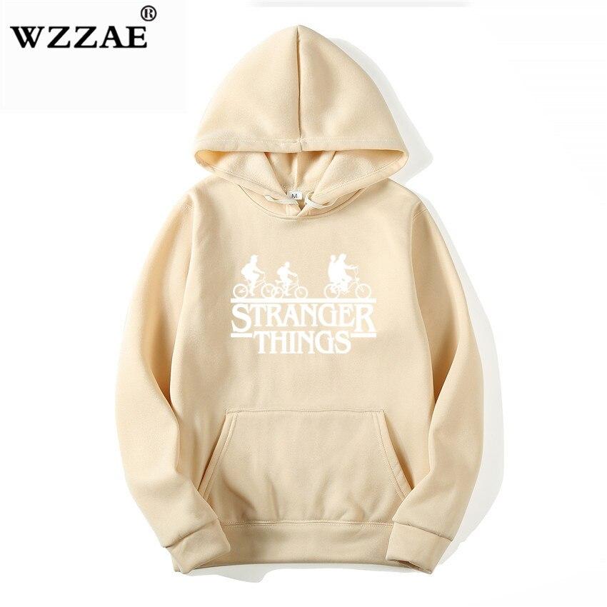 Trendy Faces Stranger Things Hooded Hoodies and Sweatshirts 18