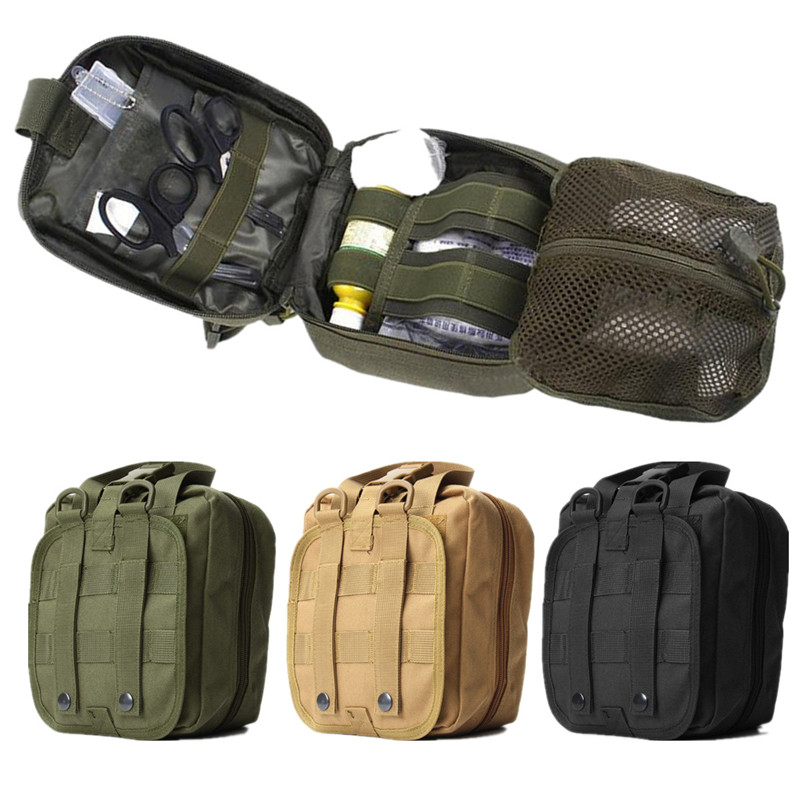 Newest Outdoor Bags Tactical Medical First Aid Bag MOLLE Medical Military Utility Pouch Rescue Package for Travel Hunting Hiking