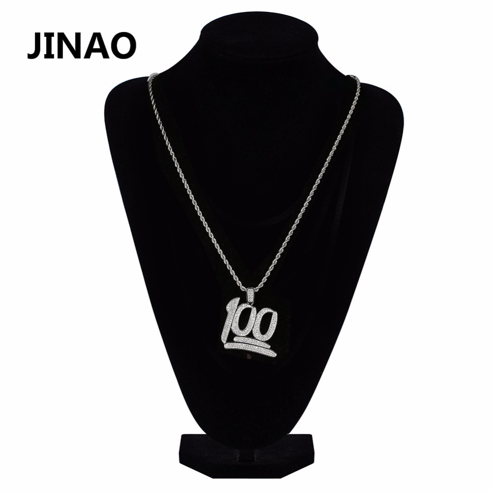Jinao gold color plated 100 points micro pave cubic zircon jinao gold color plated 100 points micro pave cubic zircon necklacespendant 24 inch chain length hip hop rock necklace jewelry in pendant necklaces from aloadofball Images