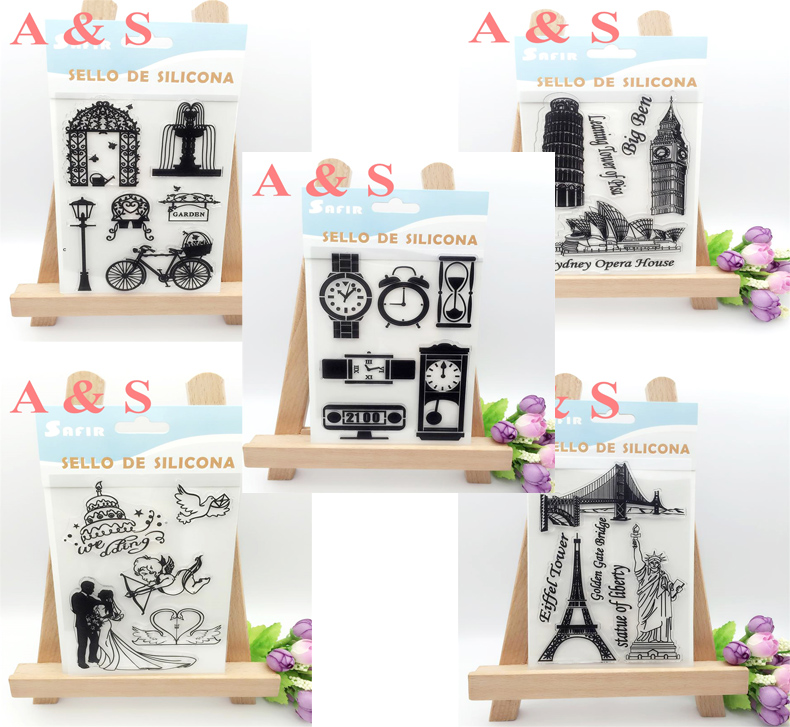 Lover Wedding And Time Travel Transparent Clear Stamp DIY Silicone Seals Scrapbooking/Card Making/Photo Album Decoration