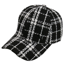 HUOBAO Fashion Black White Lattice Baseball Cap Newsboy Caps Visor For Women Gorras Female Snapback Tweed Casual Hat