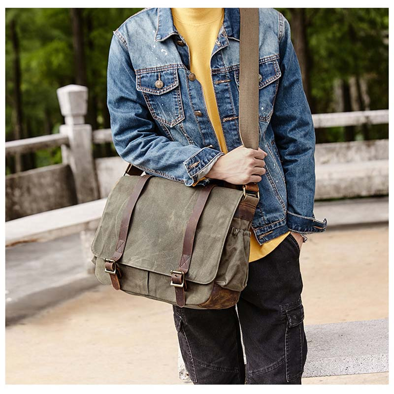 Camera Bag with Photo Pouch Canvas DSLR SLR Strap Case Casual Shoulder Bag Vintage Messenger Comfort Camera Bag Men's Handbags цена