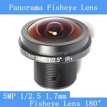 CCTV lenses 5MP 1/2.5 HD 1.7mm fisheye panoramic surveillance camera 180 degrees wide-angle infrared lens M12 lens thread