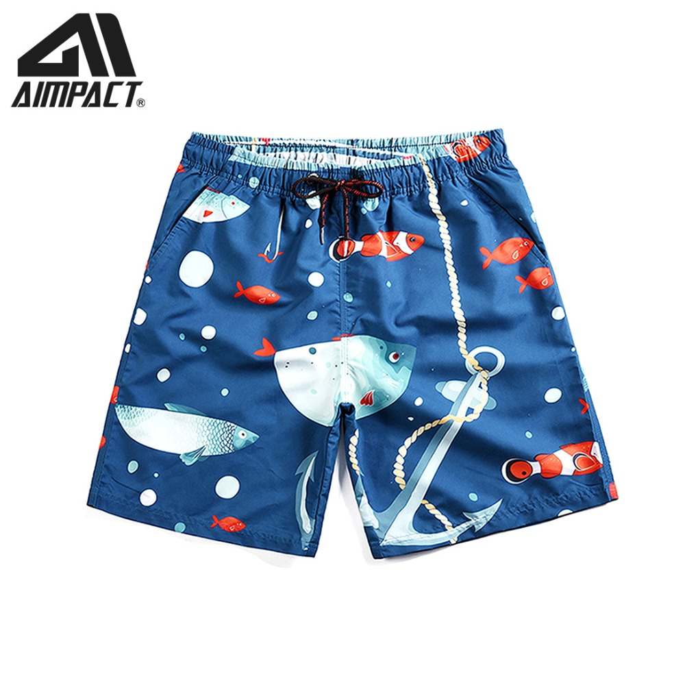 Board Shorts for Men 2019 New 3D Print Fish Beach Surf Swimming Shorts Fashion Swim Trunks Casual Leisure Hybird Shorts AM2119
