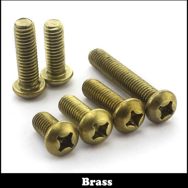 US $6 08  12pcs M6 M6*16 M6X16 Brass HEX Bolt Hexagon Socket Copper  Mushroom Round Button Head Screw-in Screws from Home Improvement on  Aliexpress com