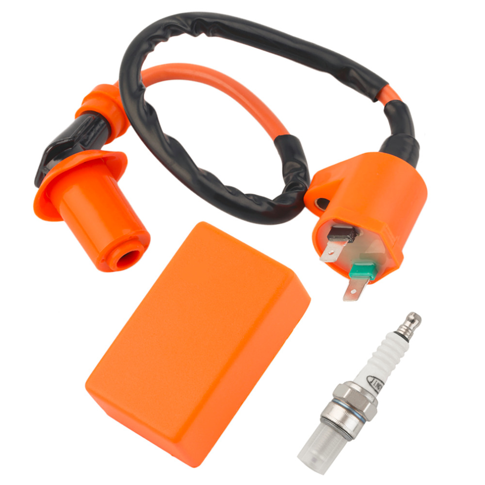 Hot Sale Motorcycle Performance CDI+ Ignition Coil + Spark Plug Fit Gy6 50cc 125cc 150cc New Dropping Shipping