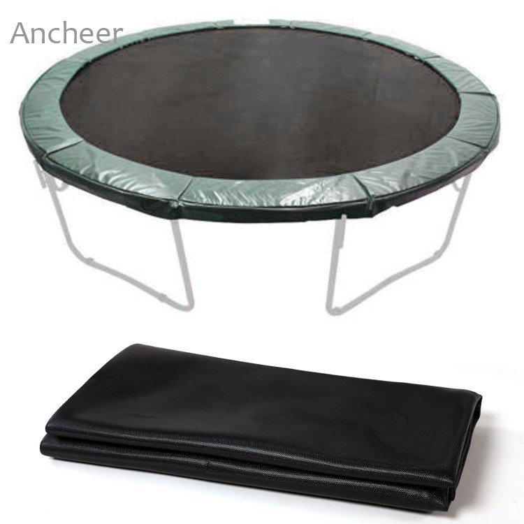 Propel 14 Trampoline With Fun Ring Enclosure: Round Trampoline Mat New Black 12.4' Jumping Mat For 14