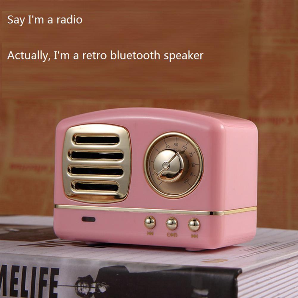New Style Mobile Phone Bluetooth Speaker Innovative Radio Retro Portable Mini Speaker