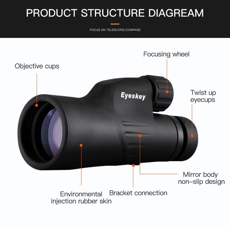 telescópio nitrogênio ajustável eyecup bak4 prisma óptica