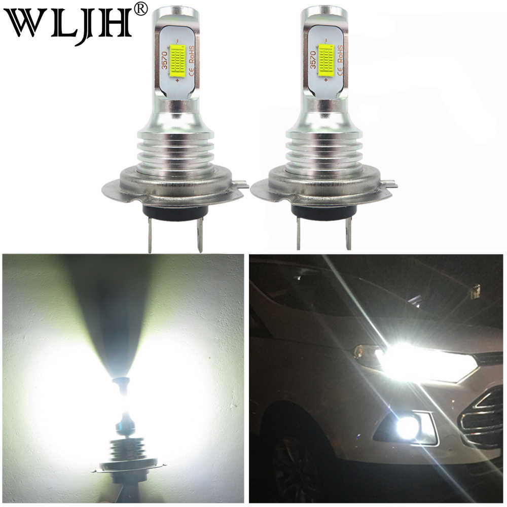 WLJH 2x Canbus H7 Led Light Car Low Beam Lamp Headlight For Volkswagen CC e-Golf Eos Golf GTI Jetta Passat  SportWagen Tiguan