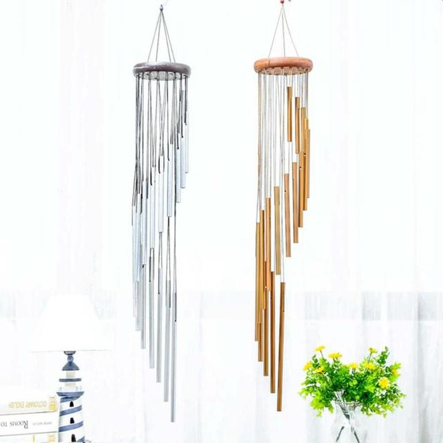 Captivating 18 Tubes Music Wind Chimes Outdoor Garden Door Wall Home Hanging Decor  Handmade Crafts Ornament Gift
