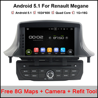 1024x600 Android 5 1 Car DVD GPS For Renault Megane III Fluence 2009 2016 With BT