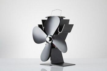 цена на Free shipping Mini 4 Blade Ecofan 12 Months Warranty Stove Top Fan Stove Fan 16% Fuel Saving Fan