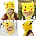 Fashion Cute Winter Multifunctional Pokemon Pikachu Plush Cap Hat Best Gift Performing props Pokemon Hats Beanies