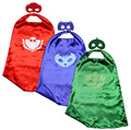 ¡ NUEVO! pj hero 1 cape + 1 máscaras catboy owlette gekko traje birthday party favors supplies niños superhéroe capa disfraz de halloween