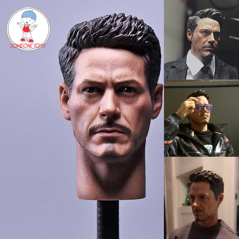 1/6 Escala Da Guerra Civil Tony Stark Chefe Sculpt Para Hot Toys Figura Do Corpo