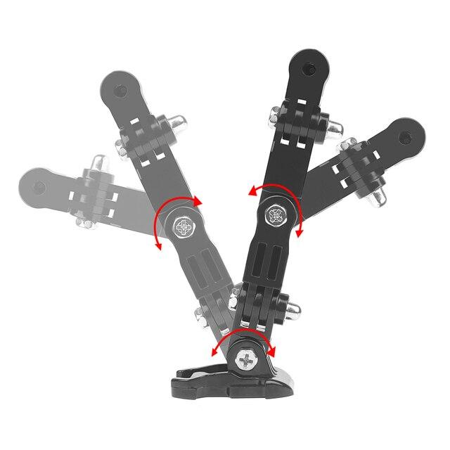 SHOOT Adjustment Base Mount for gopro hero 8 7 5 xiaomi yi 4k sjcam sj4000 sj7 Action Camera Tripod Helmet Belt Mount Accessory 2