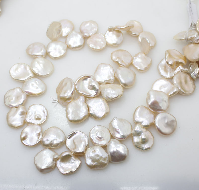 Devoted Top Drilled Coin Button Natural Freshwater Cultured Pearls Beads For Necklace Bracelet Jewelry Making Strand 15 Inch Wholsesale! Jewelry & Accessories