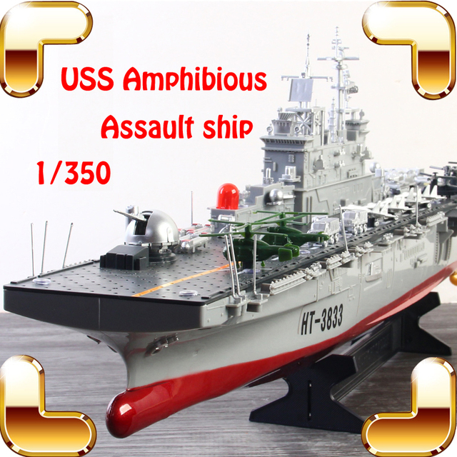 45fa6149fc Summer Gift USS Assault Ship 1 350 2.4G RC Boat Big Military Warship Remote  Control Toys Electric Machine House Decoration Toy