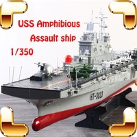 Summer Gift USS Assault Ship 1/350 2.4G RC Boat Big Military Warship Remote Control Toys Electric Machine House Decoration Toy