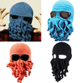 Fashion Creative Tentacle Octopus Knit Beanie Hat Cap Wind Ski Halloween Mask