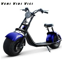 Venividivici 60v12A Fat tire Harley electric Motor car shock lithium battery scooter steering lights before the damping