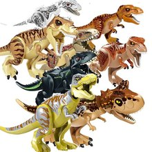 New Jurassic World 2 Tyrannosaurus Rex Building Blocks Jurassic Dinosaur Figures Bricks Toys Collection Toy legoings jurassic world 2 tyrannosaurus rex building blocks jurassic dinosaur figures bricks toys collection toy