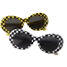 Long Keeper Brand Sunglasses Women Men's NIRVANA Kurt Cobain Sun Glasses With Leopard Frame Top Quality Oval Style Eyewear UV400