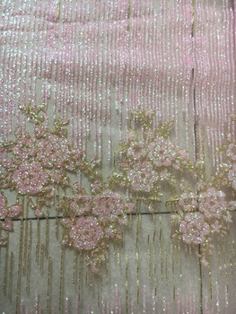 Hot sale Full Glued Glitter Sequins Nigerian Mesh Lace SU-D10106, Free Shipping Good Quality French Net Lace Fabric