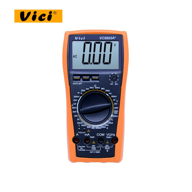 Multimeter Testing VC9805A Frequency  Tester Inductance HFE  Amp  Capacitance Temperature Meter DMM LCR VICI Digital
