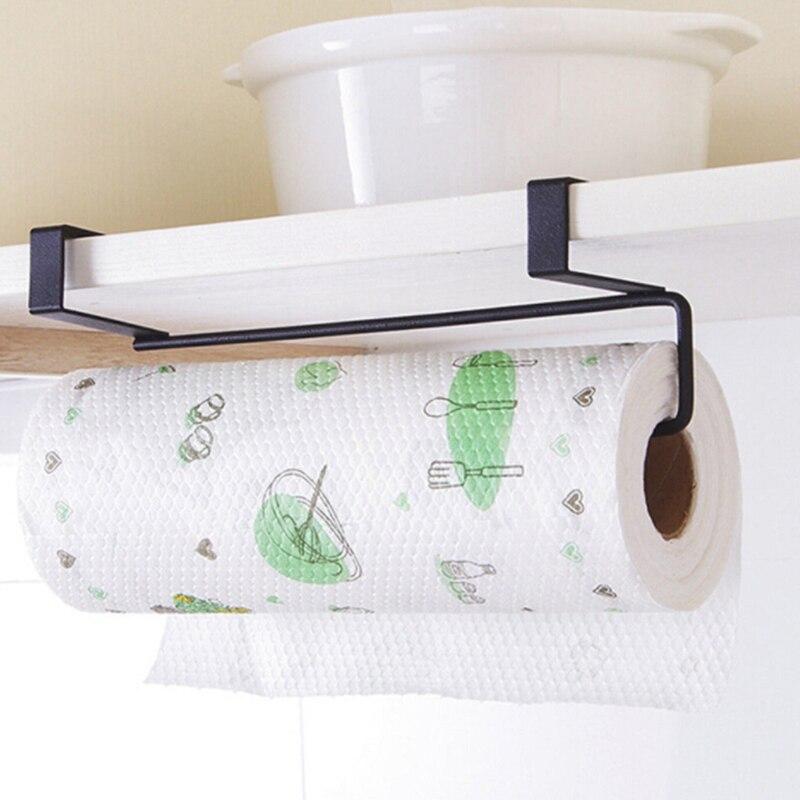 Kitchen Organizer Paper Holder Tissue Towel Rack Hanging Bathroom Towel Roll Paper Holder Cabinet Cupboard Shelf Storage Rack