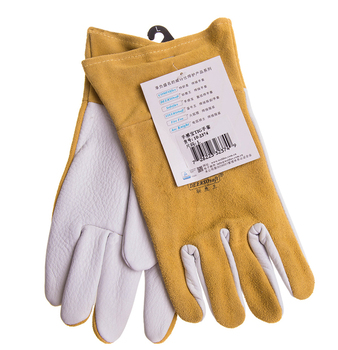 цена на Grain Deer Skin TIG Welding Glove Argon Arc Welding Safety Gloves Deerskin Leather Welding Work Glove