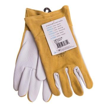 Grain Deer Skin TIG Welding Glove Argon Arc Welding Safety Gloves Deerskin Leather Welding Work Glove deerskin leather work glove welder safety gloves deer leather tig mig welding gloves
