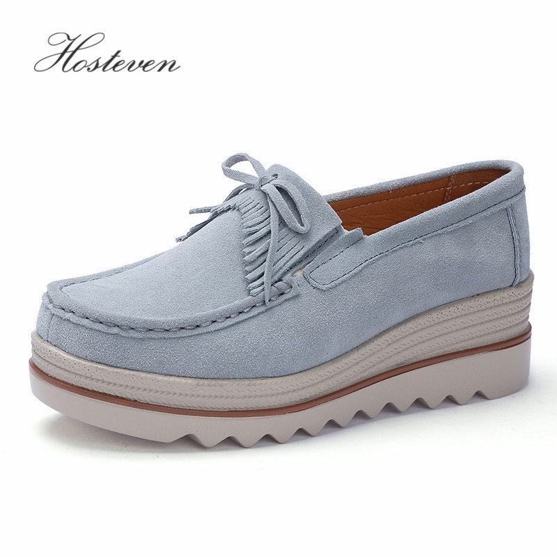 Hosteven Women Shoes Sneakers Flat Loafers Moccasins Platform Genuine Leather Spring Autumn Ladies Female Swing ShoeHosteven Women Shoes Sneakers Flat Loafers Moccasins Platform Genuine Leather Spring Autumn Ladies Female Swing Shoe