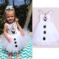 2016 Dos Desenhos Animados Do Boneco de neve Olaf Traje Meninas Do Bebê Tule Fantasia Vestido de Princesa Vestidos de Tutu 2-7A