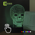 USB Nightlights for Seven Colors Adjustable LED RGB Table Light Skull Lampara Touch Light for Holiday Atmosphere Night Lamp