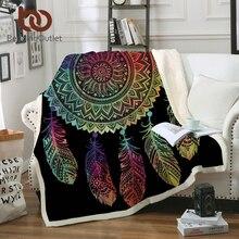 BeddingOutlet colorido atrapasueños manta Mandala Bohemia Sherpa manta de  lana para sofá cama Boho colcha 150x200 cm 498136fdf9b2
