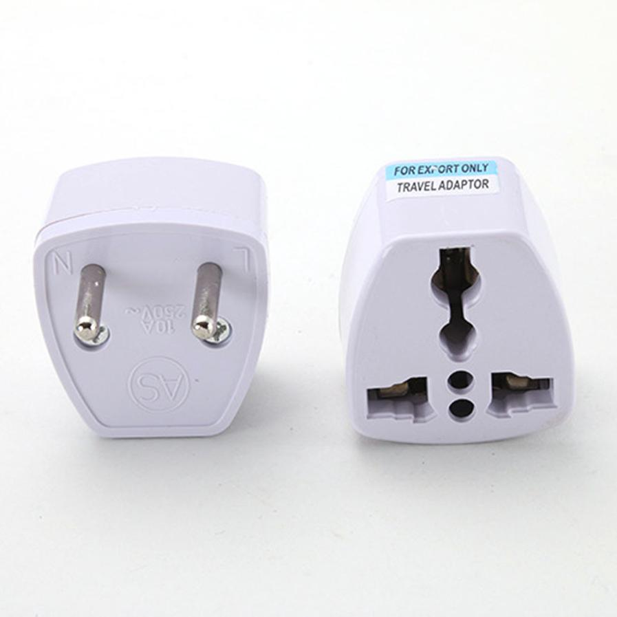 Malloom 2017 Universal Standard UK US AU to EU AC Power Socket Plug Travel Charger Adapter Converter Connector Wholesale White