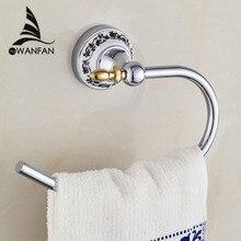Кольца для полотенец Хромированные Металлические Держатели для полотенец вешалки для полотенец Настенные керамические аксессуары для ванной комнаты Вешалки для полотенец 6707